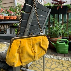 J.Crew Stunning Vintage Velvet Mustard Hand Bag 💛